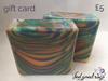 five pounds artisan handmade Gift cards gift card peterborough