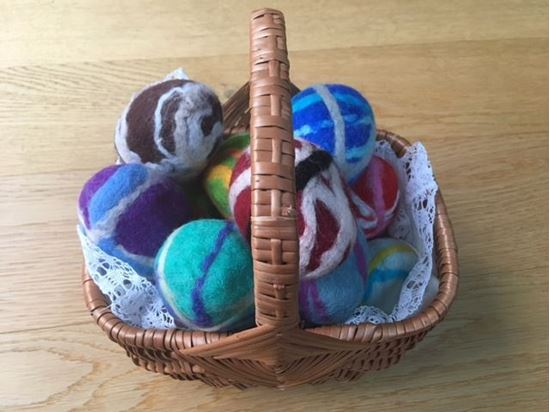 beautiful luxurious hand-crafted felted soap exfoliating sunshine Easter egg